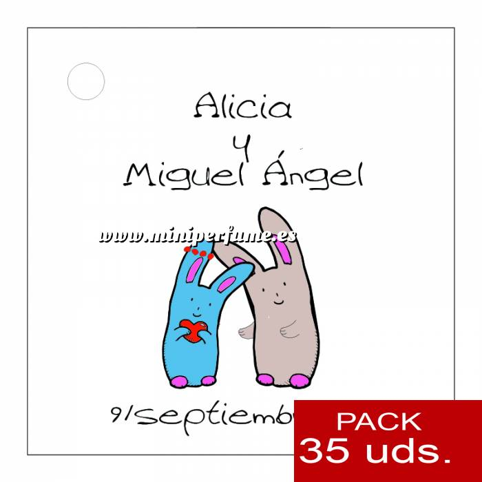 Imagen Etiquetas personalizadas Etiqueta Modelo B13 (Paquete de 35 etiquetas 4x4)