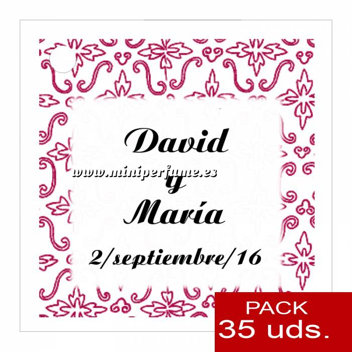 Imagen Etiquetas personalizadas Etiqueta Modelo D12 (Paquete de 35 etiquetas 4x4)
