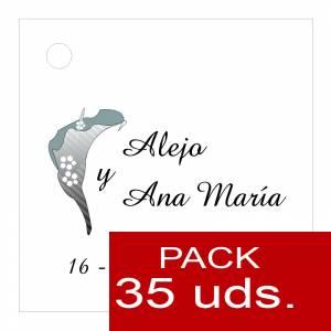 Etiquetas personalizadas - Etiqueta Modelo A01 (Paquete de 35 etiquetas 4x4)