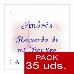 Etiquetas personalizadas - Etiqueta Modelo A25 (Paquete de 35 etiquetas 4x4)