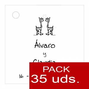 Etiquetas personalizadas - Etiqueta Modelo B02 (Paquete de 35 etiquetas 4x4)