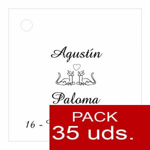 Etiquetas personalizadas - Etiqueta Modelo C04 (Paquete de 35 etiquetas 4x4)