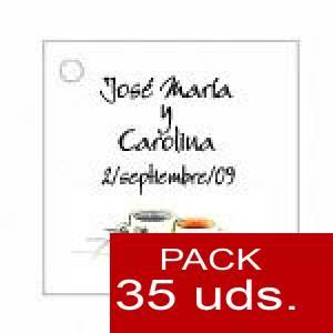 Imagen Etiquetas personalizadas Etiqueta Modelo C15 (Paquete de 35 etiquetas 4x4)