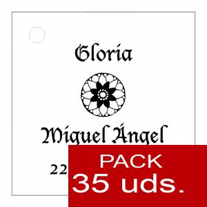 Etiquetas personalizadas - Etiqueta Modelo D11 (Paquete de 35 etiquetas 4x4)