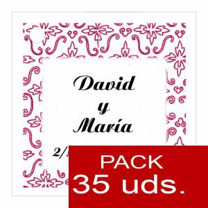 Etiquetas personalizadas - Etiqueta Modelo D12 (Paquete de 35 etiquetas 4x4)
