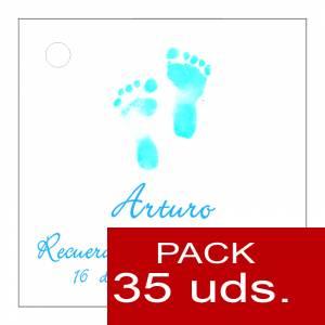 Etiquetas personalizadas - Etiqueta Modelo D21 (Paquete de 35 etiquetas 4x4)