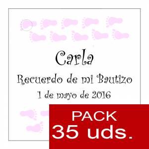 Etiquetas personalizadas - Etiqueta Modelo D22 (Paquete de 35 etiquetas 4x4)