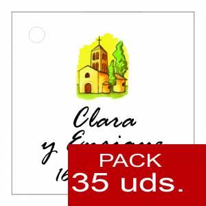 Etiquetas personalizadas - Etiqueta Modelo E08 (Paquete de 35 etiquetas 4x4)