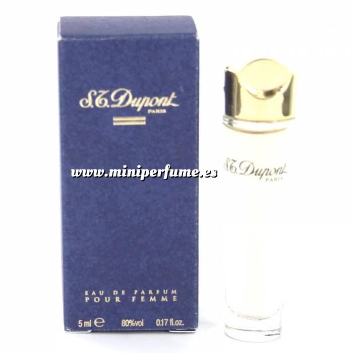 Imagen -Mini Perfumes Mujer S.T. Dupont Eau de Parfum Pour Femme 5ml. Estuche de CARTÓN Azul (Ideal Coleccionistas) (Últimas Unidades)