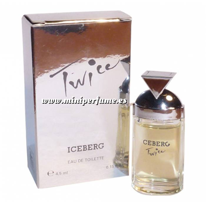 Imagen -Mini Perfumes Mujer Twice Eau de Toilette by Iceberg 4,5ml. (IDEAL COLECCIONISTAS) (Últimas Unidades)