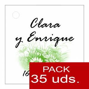 Etiquetas impresas - Etiqueta Modelo D10 (Paquete de 35 etiquetas 4x4)