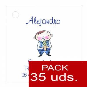 Etiquetas impresas - Etiqueta Modelo E17 (Paquete de 35 etiquetas 4x4)