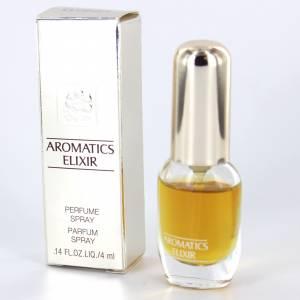 Mini Perfumes Mujer - Aromatics Elixir (CAJA PLATEADA ESPEJO) Perfume Spray by Clinique 4ml. (Últimas Unidades)